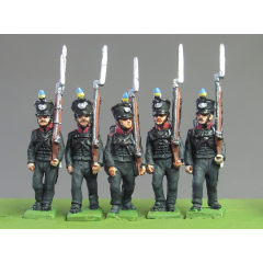 Line Infantry marching (carrot pompom, shield badge)