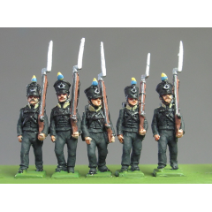Light Infantry Marching (carrot pompoms, bugle badge)