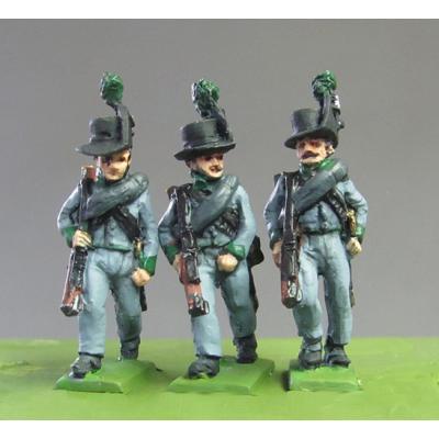 Avantgarde Rifles marching, Waterloo