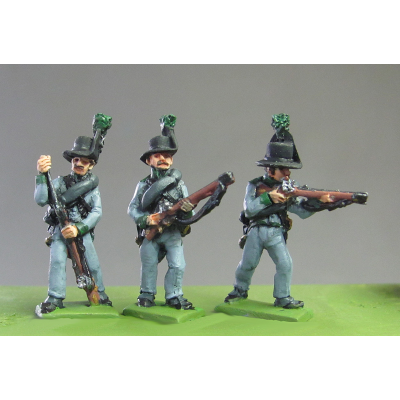 Avantgarde Rifles skirmishing, Waterloo