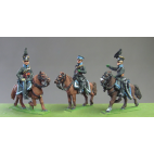 Staff set of 3 Officers, Waterloo