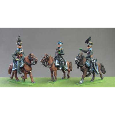Staff set of 3 Officers, Waterloo