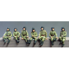 Soviet tank crew - seated set 2