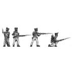 Voltigeurs skirmishing, covered shako