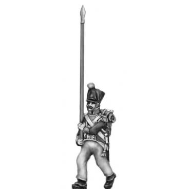 Flag bearer, covered shako