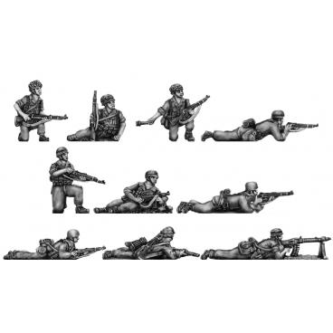 Fallschirmjaeger section, prone