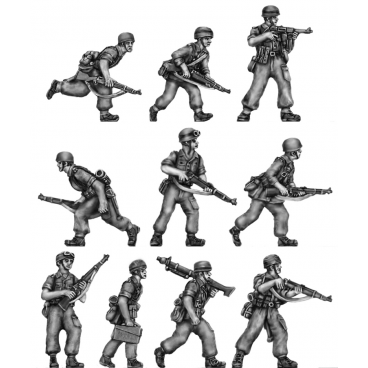 Fallschirmjaeger section, advancing