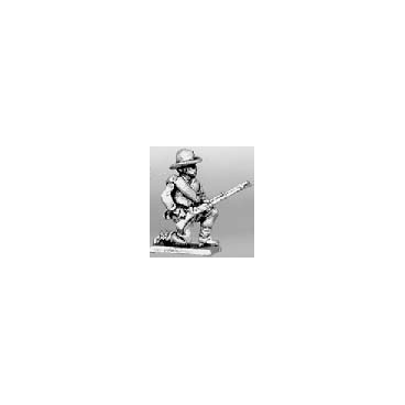 Hat, jacket kneeling