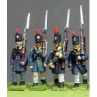 Silesian Landwehr, British shako, litewka, marching