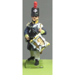 Silesian Landwehr, British shako, litewka, drummer