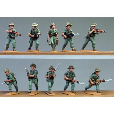Burma Hats, advancing