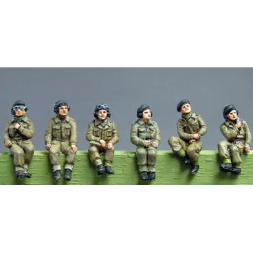 RAC Crew set 2 seated figures