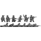Infantry squad, kneeling and prone