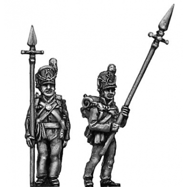 Centre Company sergeant, with pike
