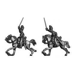 2nd Dragoons Scots Greys charging covered bearskin