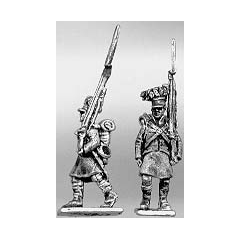 Highland infantry centre company, marching, shoulder arms