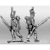 Light infantry, advancing at trail