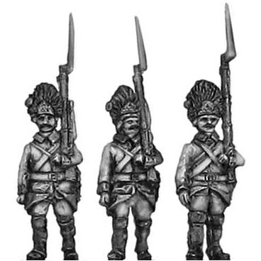 German grenadiers marching