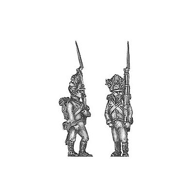 German grenadier, marching