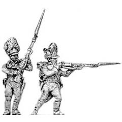 German grenadier, firing and loading