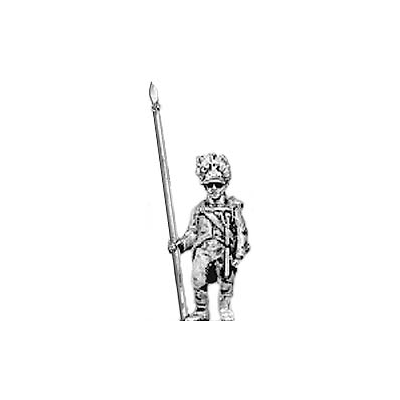 German grenadier standard bearer