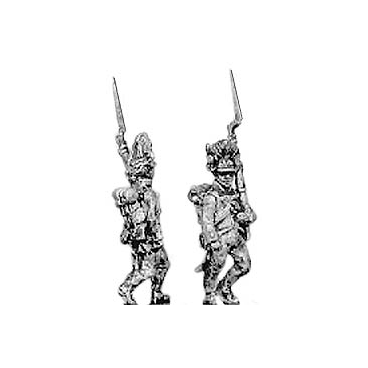Hungarian grenadier, marching, shoulder arms