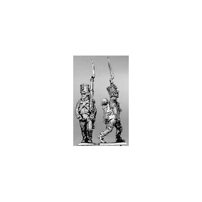 Grenzer, cylindrical shako, marching