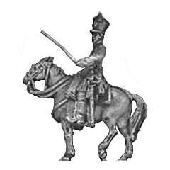 Mounted officer, shako