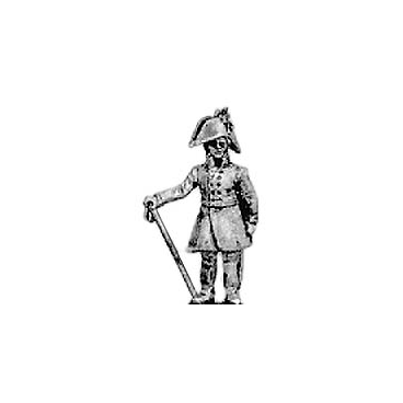 Dismounted officer, cocked hat