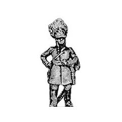German grenadier officer, standing