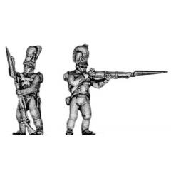 Skirmishers, firing and loading