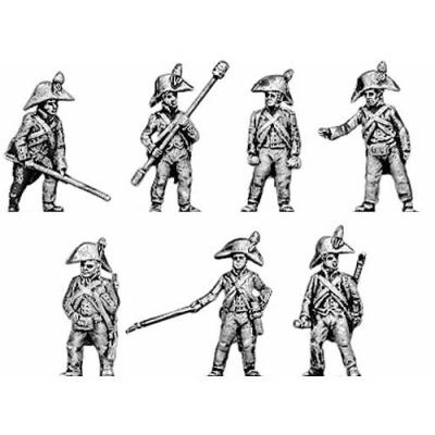 Foot artillery crew, bicorne