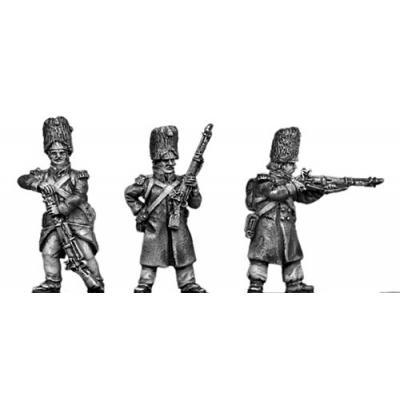 Grenadier, bearskin, skirmishing, greatcoat