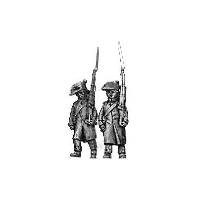 Fusilier, bicorne & greatcoat, march attack
