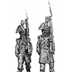 Grenadier, bicorne & greatcoat, march attack