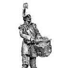 Grenadier drummer, greatcoat