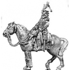 Mounted officer, greatcoat