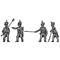 Foot artillery crew, firing