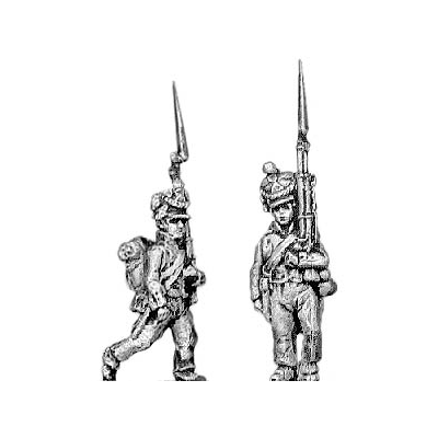 Fusilier, lozenge plate, cords on shako, marching