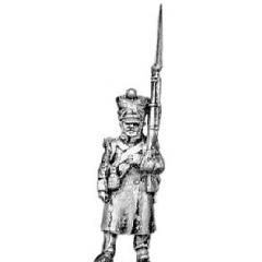 Grenadier, greatcoat, march attack