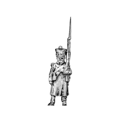 Grenadier, greatcoat, march attack