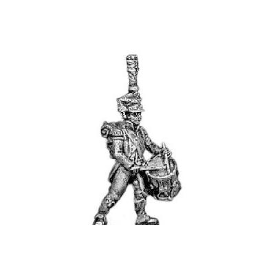 Drummer, shako and plume