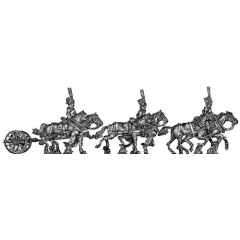 Guard horse artillery caisson (galloping)