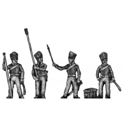 Horse artillery crew, firing