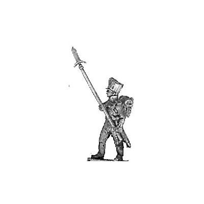 Colour guard sergeant, with spontoons