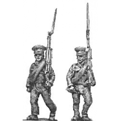 Reserve infantry, marching, caps and jacket