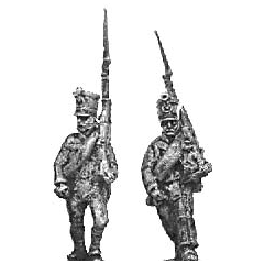 Reserve infantry, marching, shakos and jacket