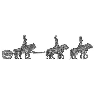 Horse artillery light limber team