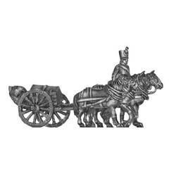 Foot artillery – small caisson (Troika) team