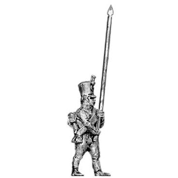 Musketeer standard bearer, shako